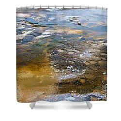 Bacterial Mat - 2 Shower Curtain by Dan Hartford
