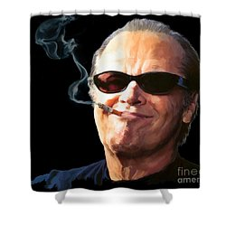 Bad Boy Shower Curtain by Paul Tagliamonte