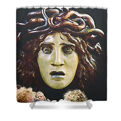 Shower Curtain featuring the photograph bad hair day at d'Orsay museum, Paris.  by Joe Schofield