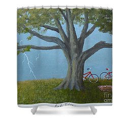 Bad Idea Shower Curtain