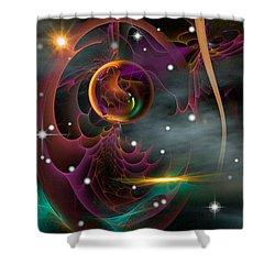 Bad Moons Arisin' Shower Curtain by Phil Sadler