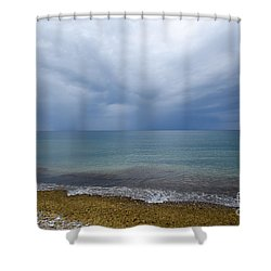 Shower Curtain featuring the photograph Bad Weather Approaching At The Coast by Kennerth and Birgitta Kullman