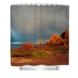 Shower Curtain featuring the photograph Bad Weather Coming by Randi Grace Nilsberg