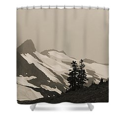 Fog In Mountains Shower Curtain