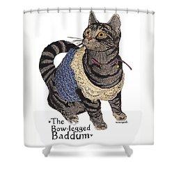 Baddums Shower Curtain