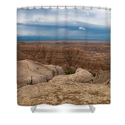 Badlands South Dakota Shower Curtain by Don Spenner