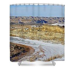 Badlands Frozen Shower Curtain