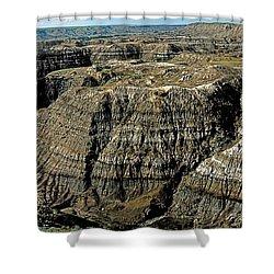 Badlands Shower Curtain by Terry Reynoldson