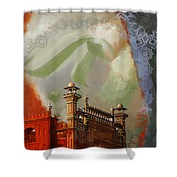 Badshahi Mosque 2 Shower Curtain by Catf