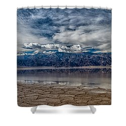 Badwater Reflection Shower Curtain by Cat Connor