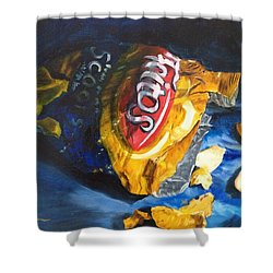 Bag Of Chips Shower Curtain by LaVonne Hand