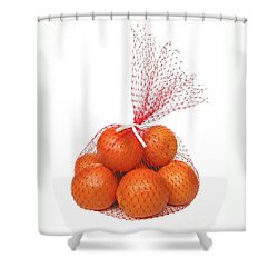 Bag Of Oranges Shower Curtain by Ann Horn