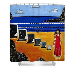 Baggage Shower Curtain by Sandra Marie Adams