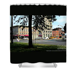 Bagg's Square West Shower Curtain by Peter Gumaer Ogden