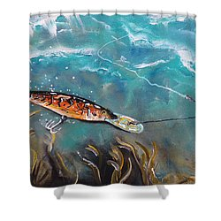 Bagley's Deep Dive Shower Curtain