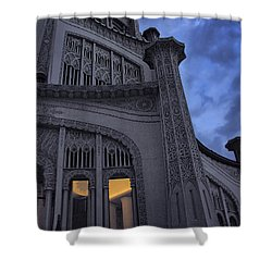 Shower Curtain featuring the photograph Bahai Temple Detail At Dusk by John Hansen