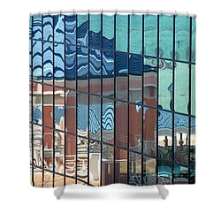 Bahamas Beach Pavilion Shower Curtain