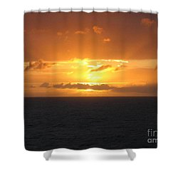 Bahamas Ocean Sunset Shower Curtain by John Telfer