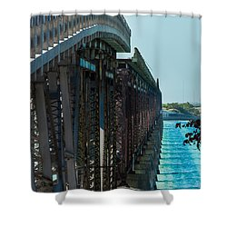 Bahia Honda Bridge Patterns Shower Curtain