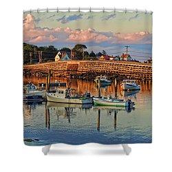 Bailey Island Bridge At Sunset Shower Curtain