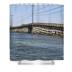 Bailey Island Bridge - Harpswell Maine Shower Curtain by Erin Paul Donovan