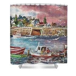 Bailey Island Cribstone Bridge Shower Curtain by Joy Nichols