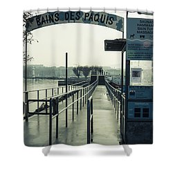 Shower Curtain featuring the photograph Bains Des Paquis by Muhie Kanawati