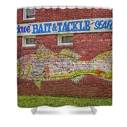 Bait Tackle Seafood Shop Detail Shower Curtain