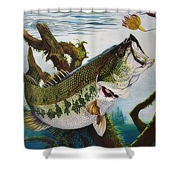 Baiting The Big One Shower Curtain by Bruce Bley