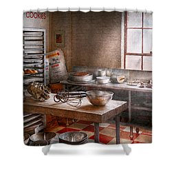 Baker - Kitchen - The Commercial Bakery  Shower Curtain by Mike Savad