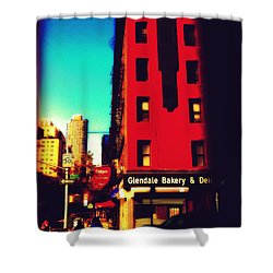 Shower Curtain featuring the photograph The Bakery - New York City Street Scene by Miriam Danar