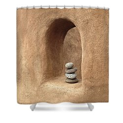 Balance Shower Curtain by Don Spenner