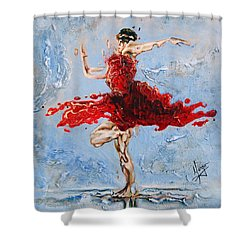 Balance Shower Curtain by Karina Llergo