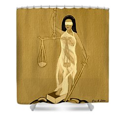Shower Curtain featuring the painting Balance 3 by Lorna Maza