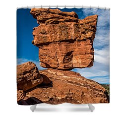 Balanced Rock Garden Of The Gods Shower Curtain by Paul Freidlund