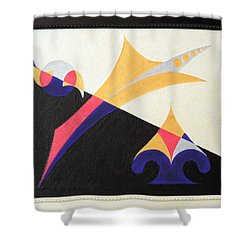 Shower Curtain featuring the painting Balancing Act by Ron Davidson