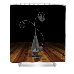 Balancing Flame V2 Shower Curtain by Peter Piatt