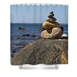 Balancing Rock 2 Shower Curtain by Rosie McCobb