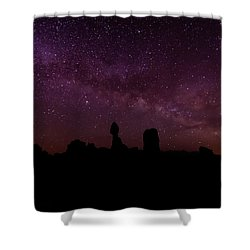 Balancing The Universe Shower Curtain by Silvio Ligutti
