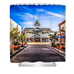 Balboa Main Street In Newport Beach Picture Shower Curtain by Paul Velgos