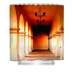Balboa Park At Sunrise Xl Shower Curtain