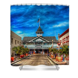 Shower Curtain featuring the photograph Balboa Pavilion by Jim Carrell