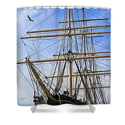 Shower Curtain featuring the photograph Balclutha by Kate Brown