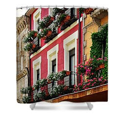 Balconies Of Leon Shower Curtain by Mary Machare