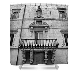 Balcony In Assisi Shower Curtain