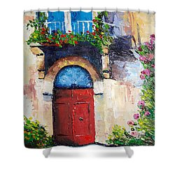 Balcony Shower Curtain by Janet Garcia