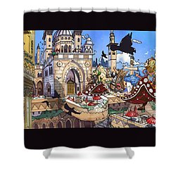 Balcony Of Princess Jasmine Shower Curtain by Reynold Jay