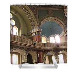 Balcony Of Sofia Synagogue Shower Curtain