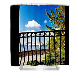 Shower Curtain featuring the photograph Balcony Scene by Amar Sheow