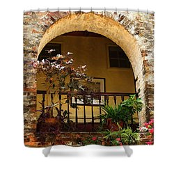 Balcony St Lucia Shower Curtain by Tom Prendergast